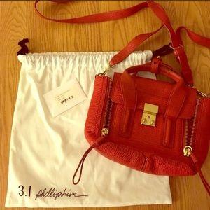 3.1 phillip lim pashli mini red crossbody bag